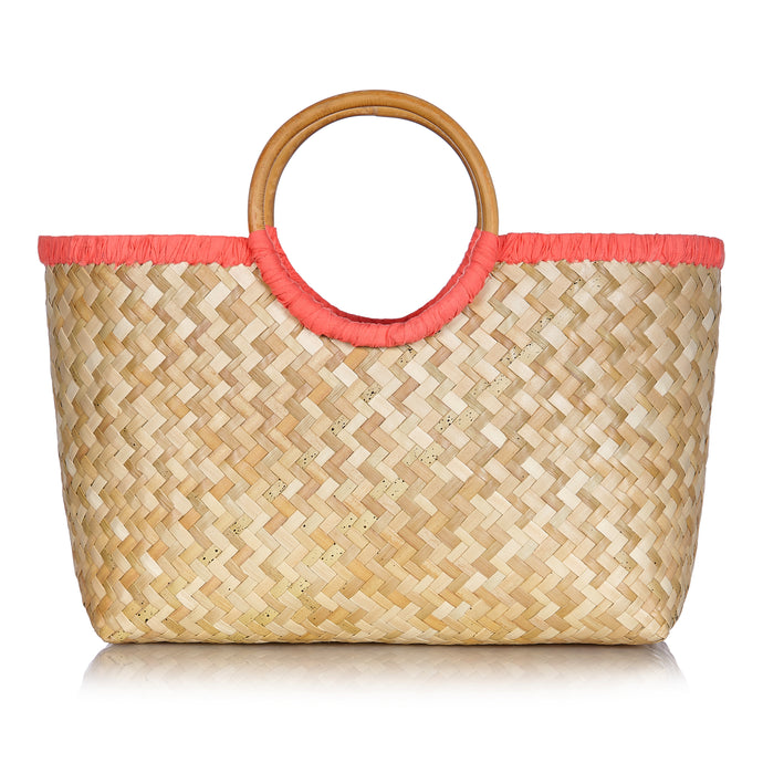 Island Life Basket in Coral Pink