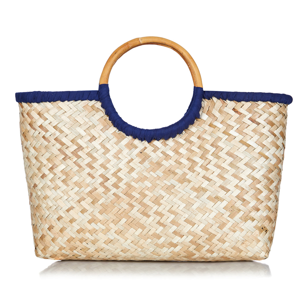 Island Life Basket in Ocean Blue - MORE STOCK COMING SOON