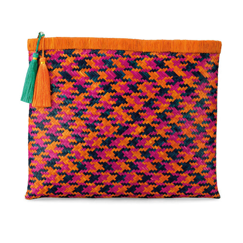 Beach Life Clutch in Bird of Paradise Orange