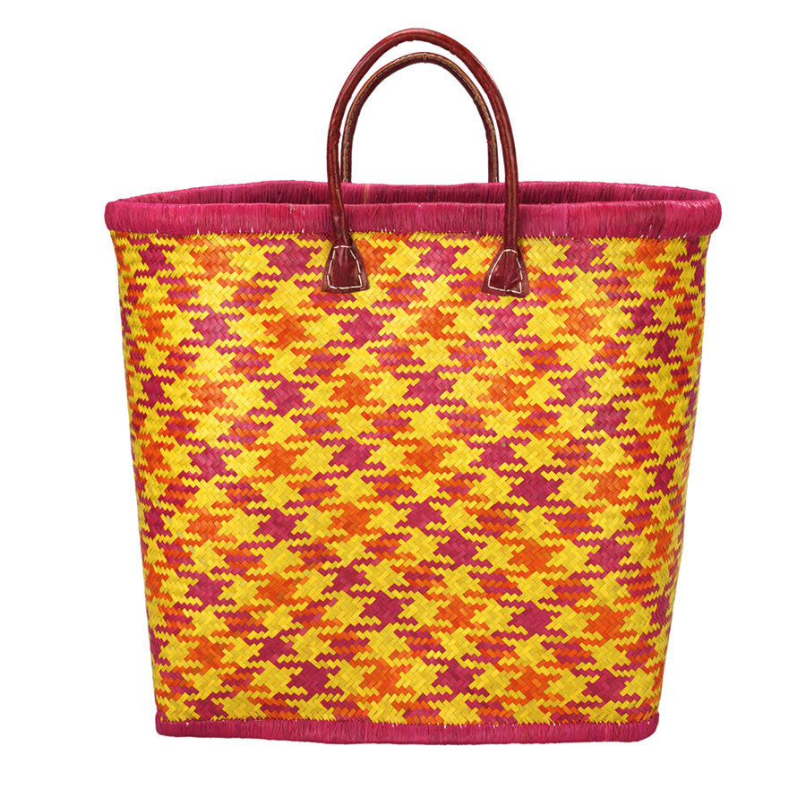 Beach Life Basket in Sunrise Pink