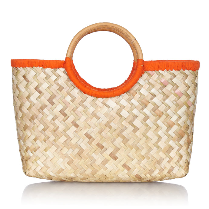 Island Life Basket in Flamboyant Orange