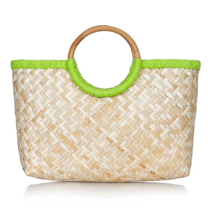 Island Life Basket in Sugar Cane Green - Available to ship from 20th January 2020