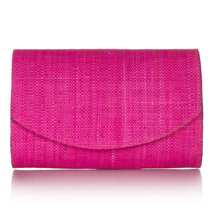 Sundown Clutch in Hibiscus Pink