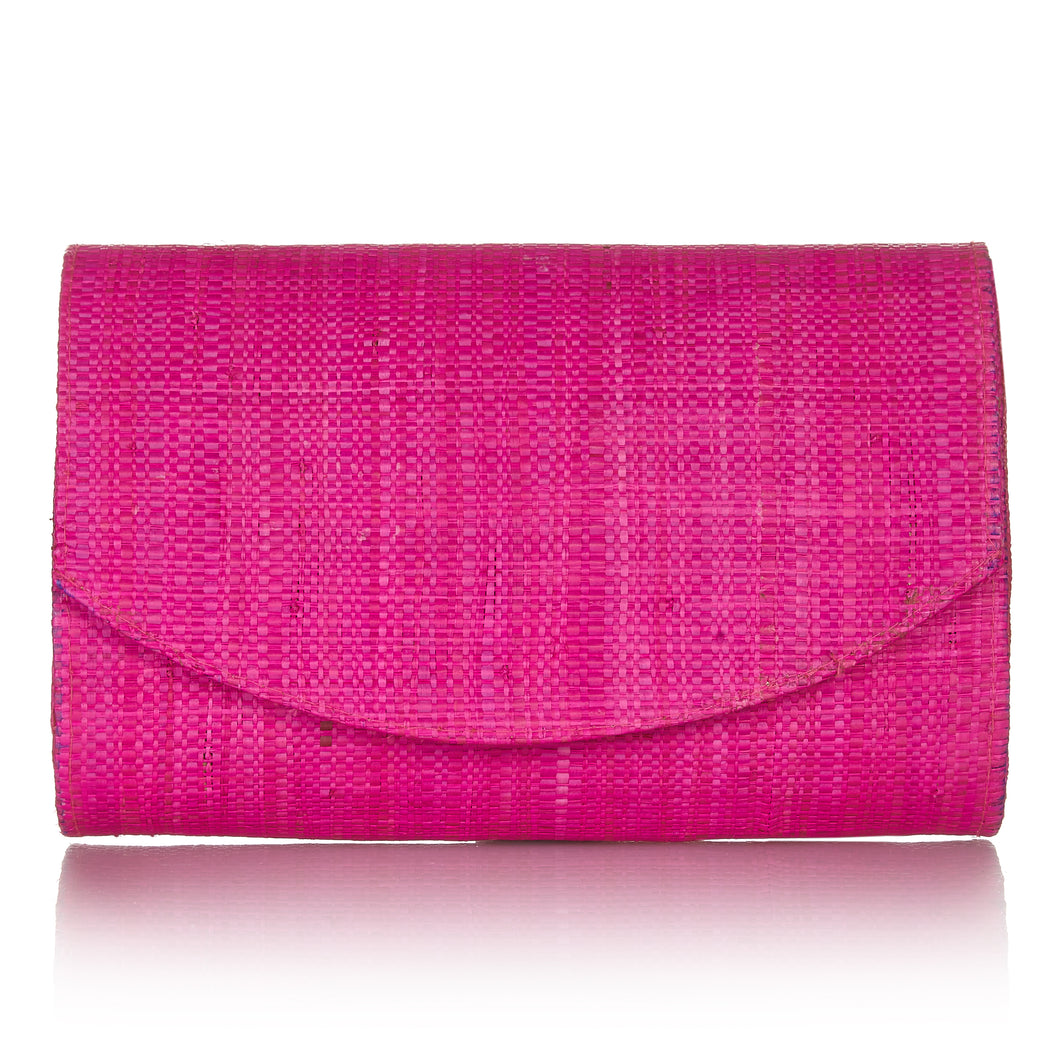 #Sundown Clutch in Hibiscus Pink