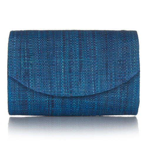 Sundown Clutch in Ocean Blue
