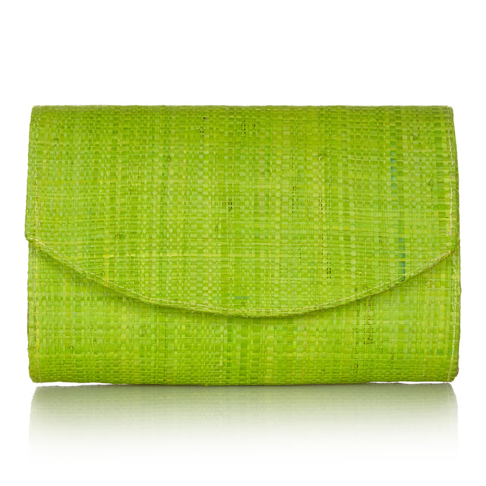Sundown Clutch in Sugar Cane Green - Available to ship from 20th January 2020