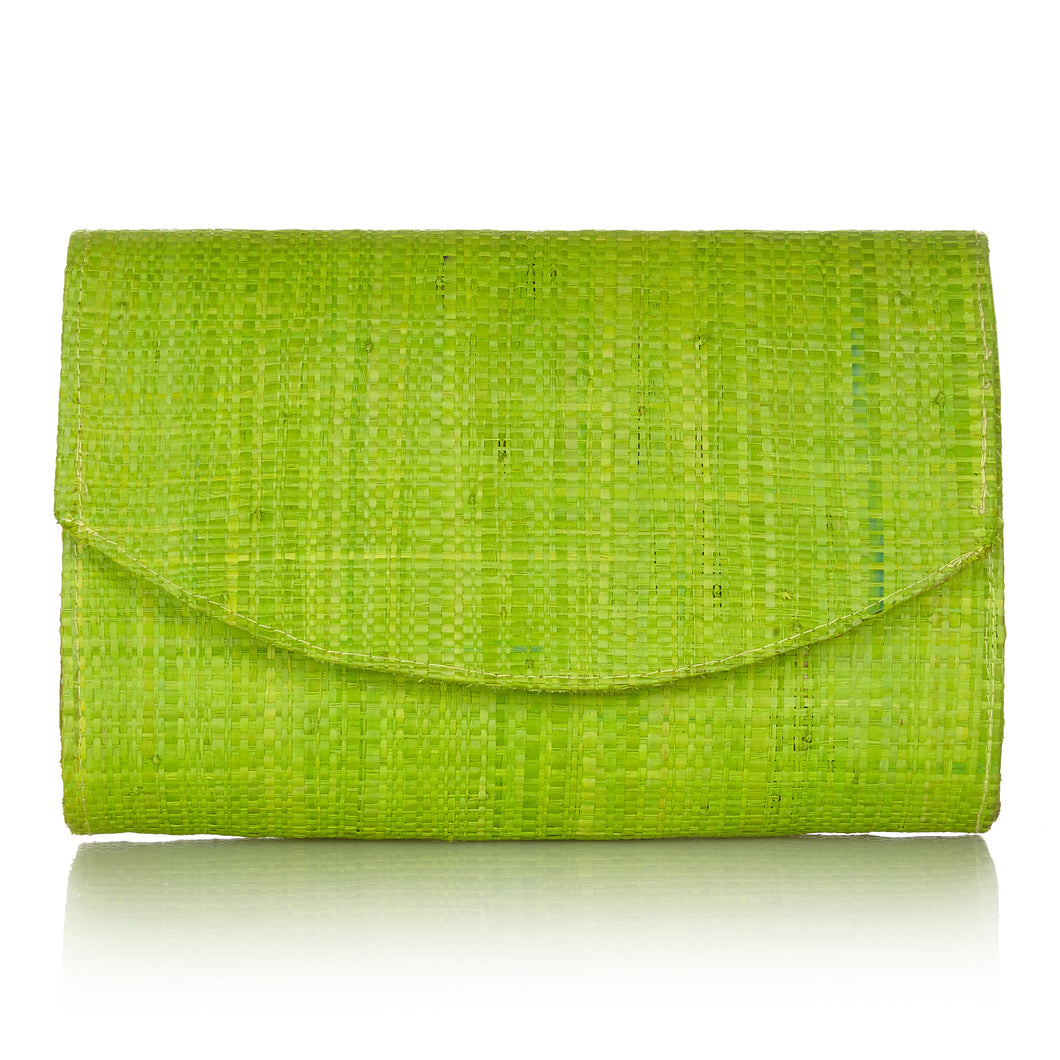 #Sundown Clutch in Sugar Cane Green