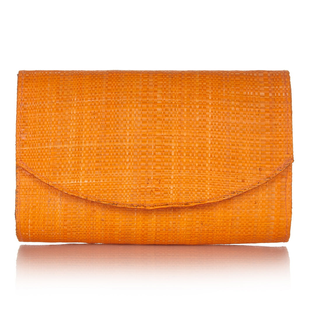 Sundown Clutch in Sunset Orange