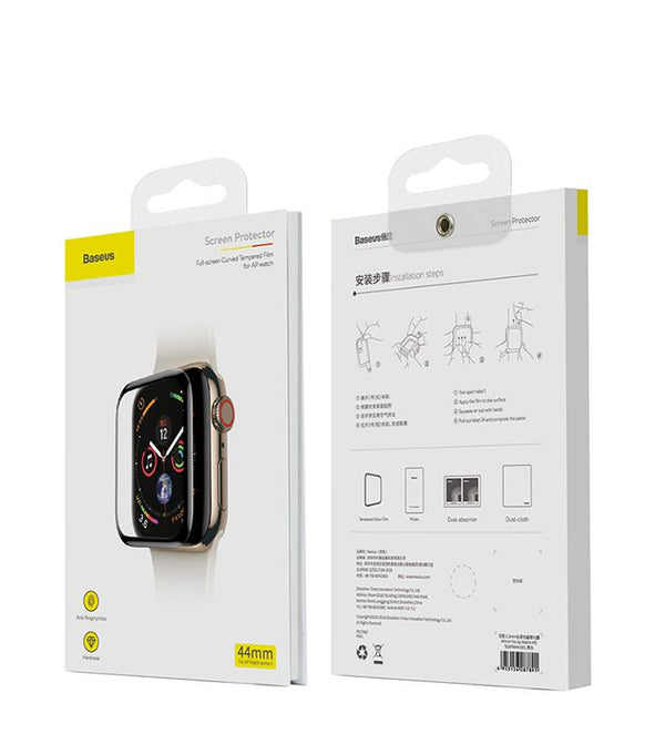 Baseus 0.3mm Full-Screen Curved Tempered Film For iWatch 4 40mm Black