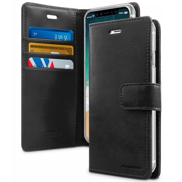 Mercury Blue Moon Diary Case for iPhone XS Max - Black