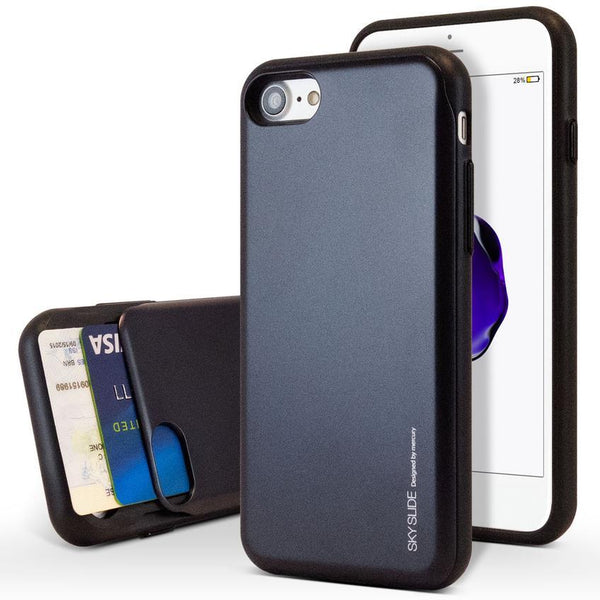 Mercury Sky Slide Bumper Case for iPhone XS Max - Black
