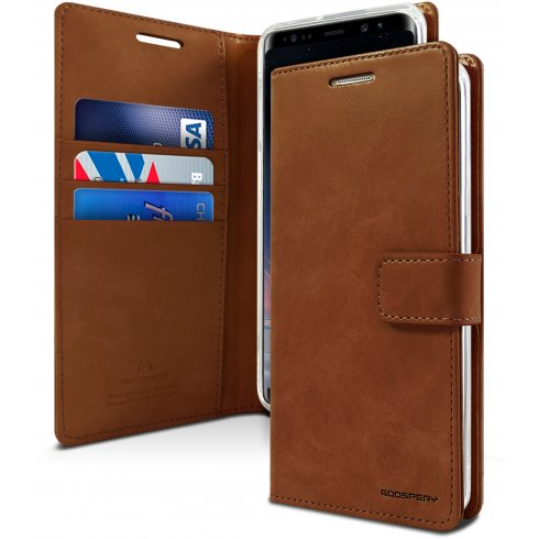 Mercury Blue Moon Diary Samsung Note 8 - Brown