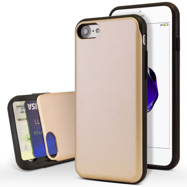 Mercury Sky Slide Bumper Case for iPhone XS Max - Gold
