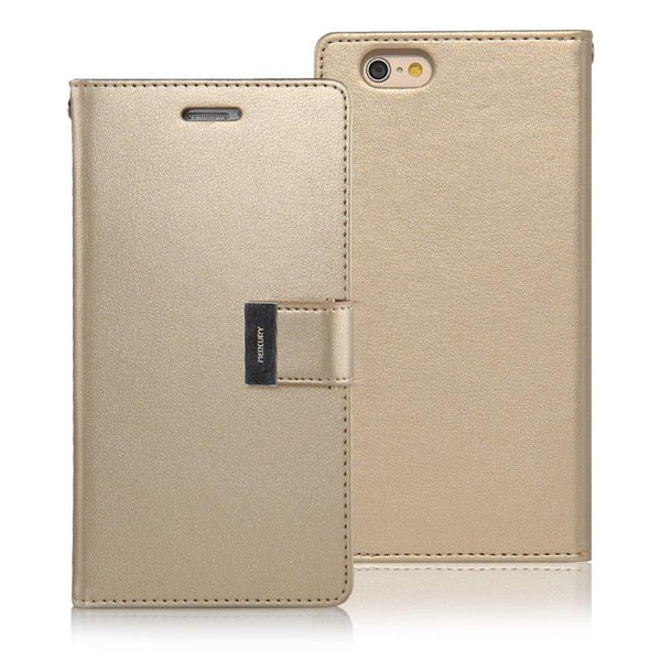 Mercury Rich Diary Case for iPhone 6/6s Plus - Gold