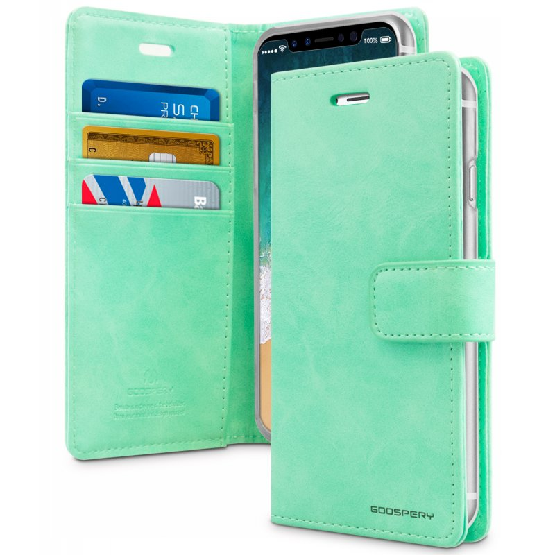 Mercury Blue Moon Diary Case for iPhone X/XS - Mint