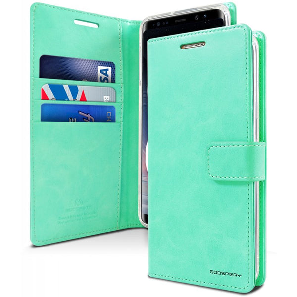 Mercury Blue Moon Diary Samsung Note 8 - Mint