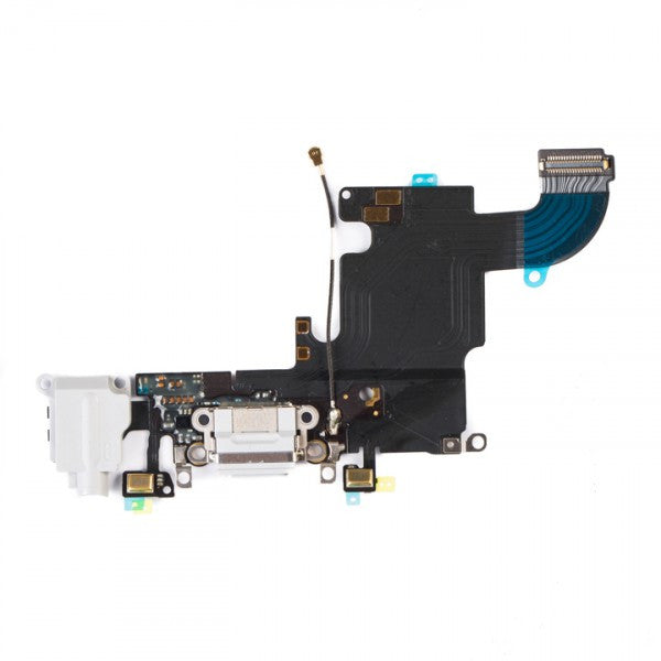 "Charging Port & Headphone Jack Flex Cable for iPhone 6S (4.7"") - Light Grey"
