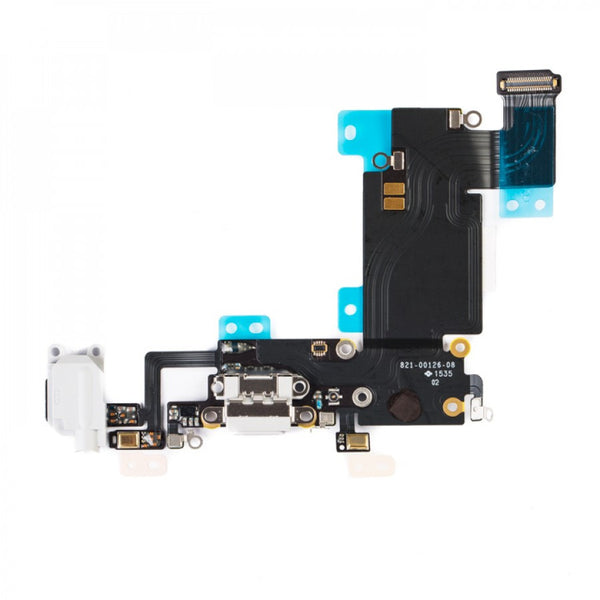 "Charging Port & Headphone Jack Flex Cable for iPhone 6S Plus (5.5"") - Light Grey"