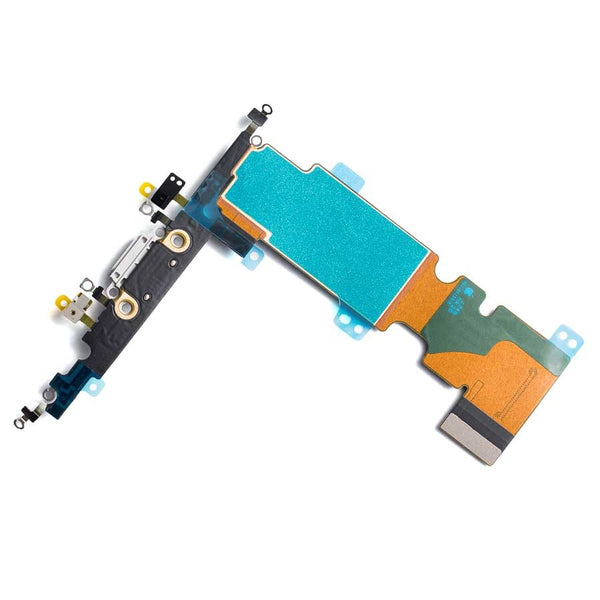 "Charging Port Headphone Jack Flex Cable for iPhone 8 Plus (5.5"") - Silver"