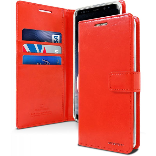 Mercury Blue Moon Diary Samsung Note 8 - Red