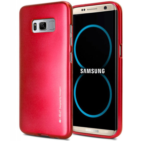 Mercury Jelly Case for Samsung Galaxy S8 - Metal Red