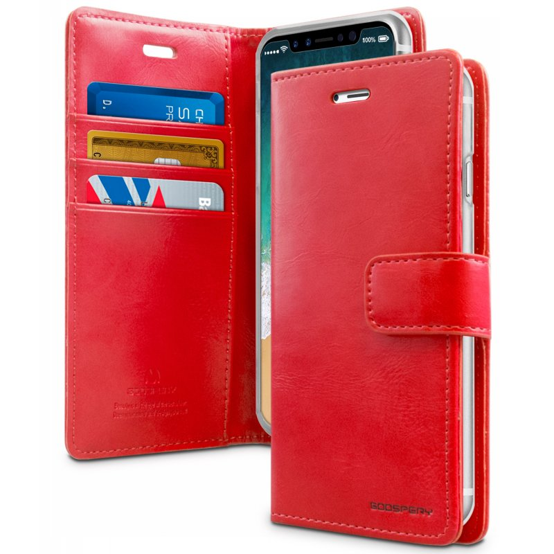 Mercury Blue Moon Diary Case for iPhone X/XS - Red