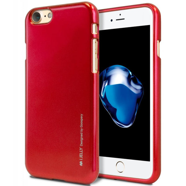Mercury Jelly Case for iPhone 6/6s Plus - Metal Red