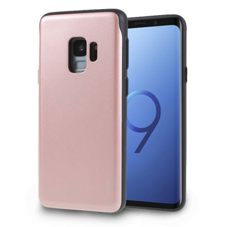 Mercury Sky Slide Bumper Case for Samsung Galaxy S9 Plus - Rose Gold