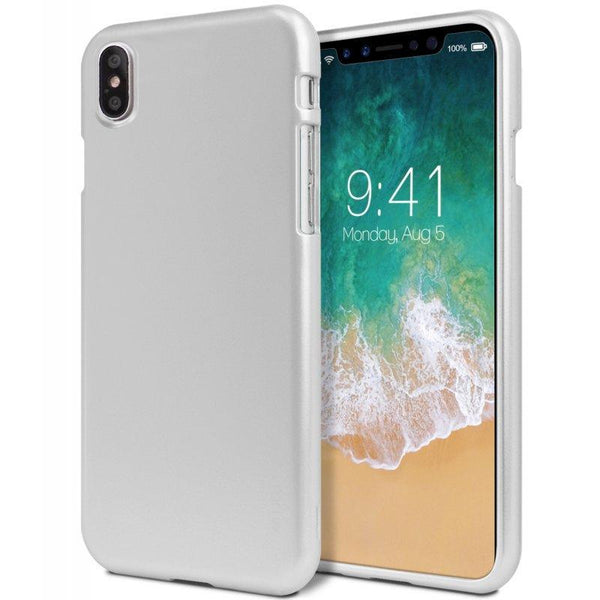 Mercury iJelly Metal Case for iPhone XS Max - Silver