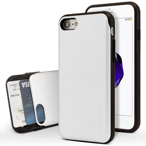 Mercury Sky Slide Bumper Case for iPhone XS Max - Silver