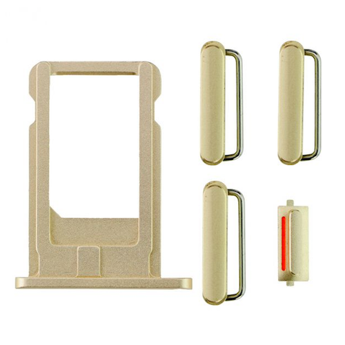 "Sim Tray and Button Set for iPhone 6 Plus (5.5"") - Gold"