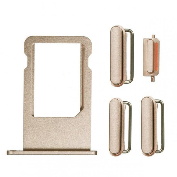 "Sim Tray and Button Set for iPhone 6S (4.7"") - Gold"