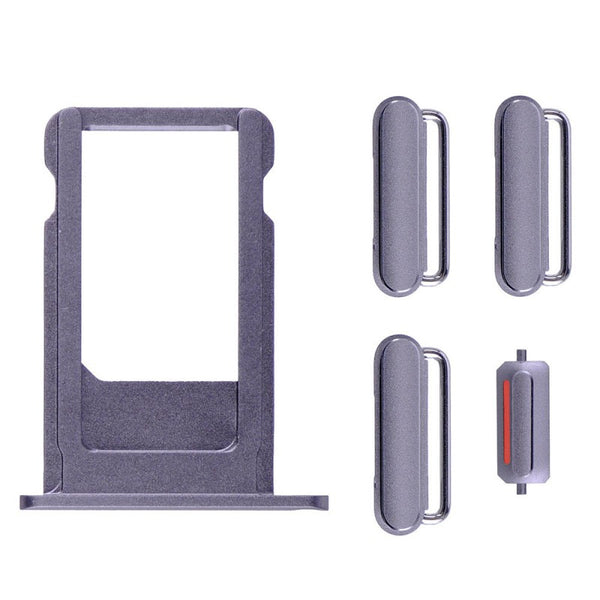 "Sim Tray and Button Set for iPhone 6S (4.7"") - Grey"