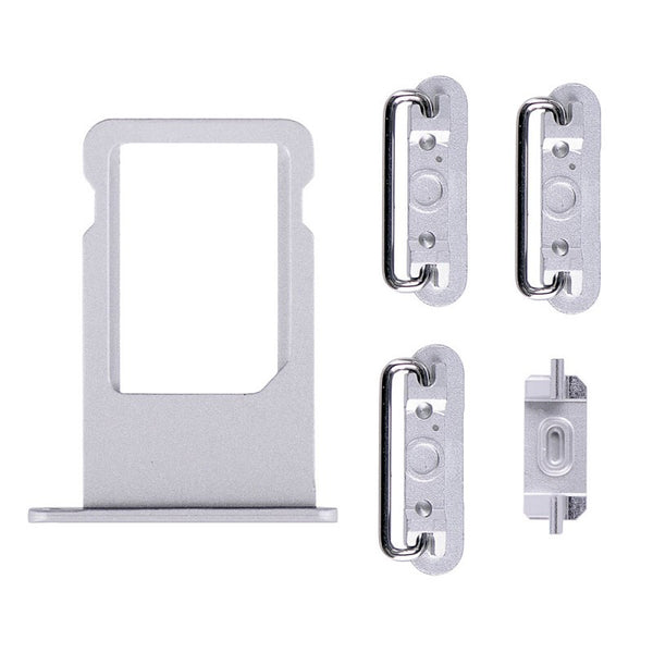 "Sim Tray and Button Set for iPhone 6S Plus (5.5"") - Silver"