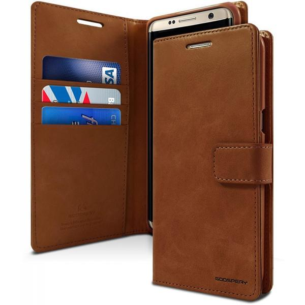 galaxy s10 plus wallet case brown