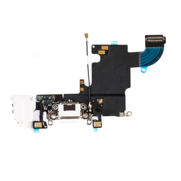"Charging Port & Headphone Jack Flex Cable for iPhone 6S (4.7"") - White"
