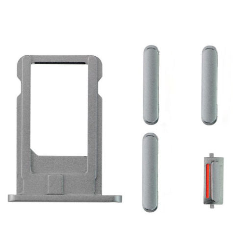 "Sim Tray and Button Set for iPhone 6 (4.7"") - Grey"