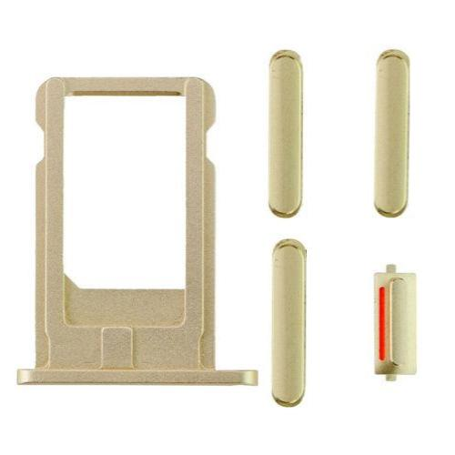 "Sim Tray and Button Set for iPhone 6 (4.7"") - Gold"
