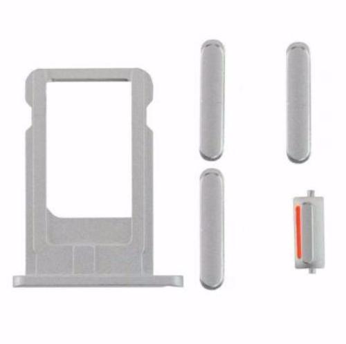 "Sim Tray and Button Set for iPhone 6 (4.7"") - Silver"