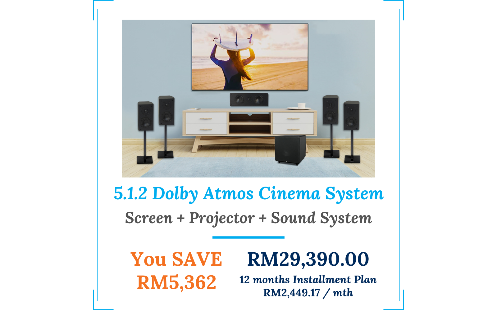 Projection TV, Sound System & Home Theater System for Malaysia