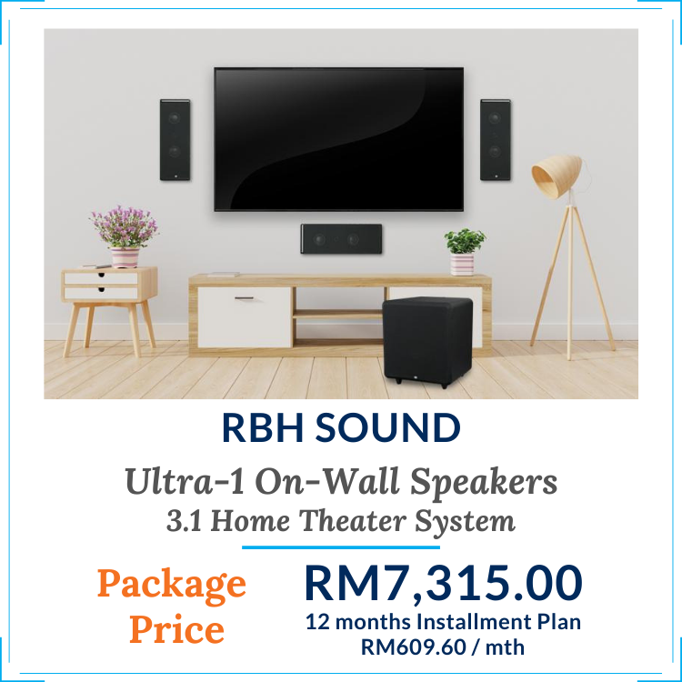 Ultra-1 On-Wall Home Theater Speaker Package