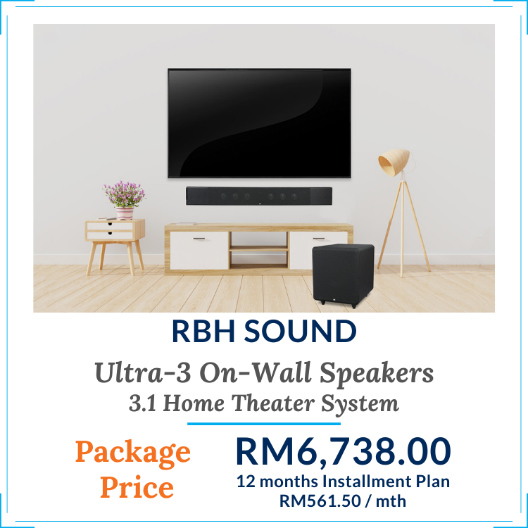 Ultra-3 On-Wall Home Theater Speaker Package