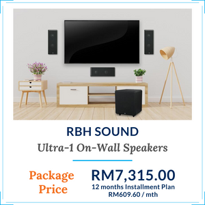 RBH Sound Ultra-1 On-Wall Speaker Package Deals I Moovee Space