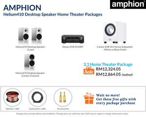 Amphion Helium410 Desktop Speaker 3.1 Home Theater Package