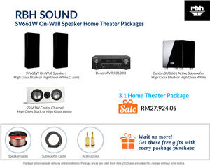 RBH Sound Signature SV661W On-Wall Speaker 3.1 Home Theater Package