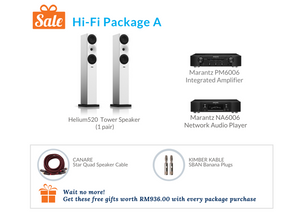 Hi-Fi Package A (Marantz Network CD Receiver & Integrated Amplifier)
