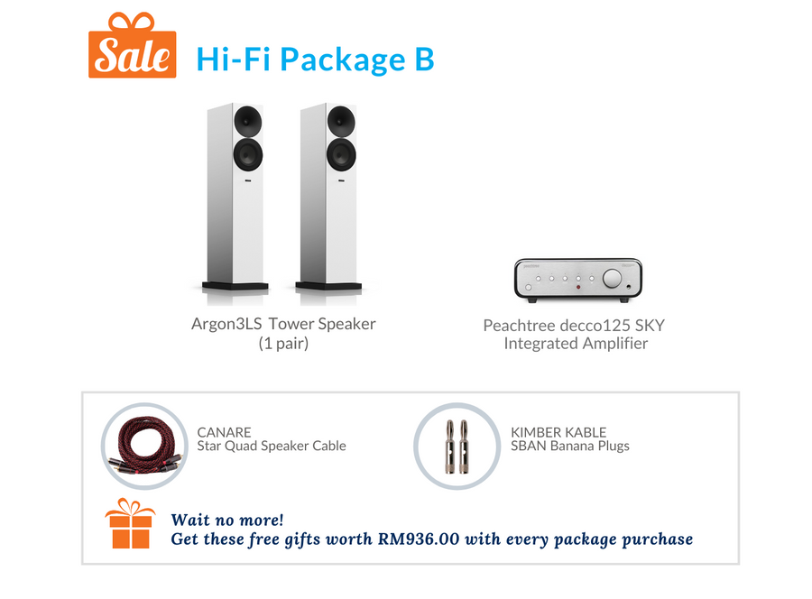 Hi-Fi Package B (Peachtree Audio Integrated Amplifier)