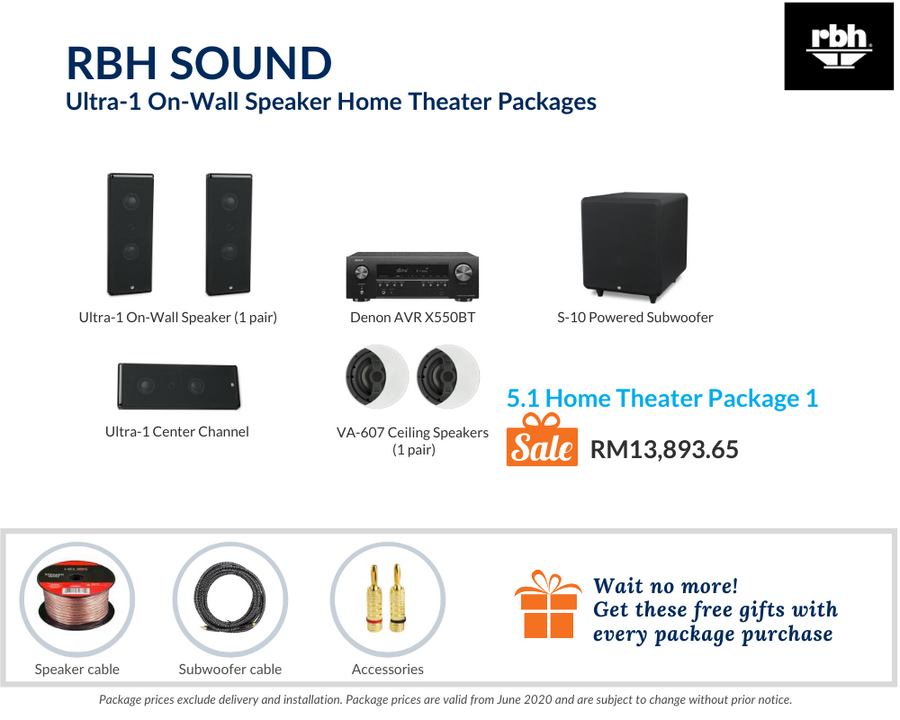 5.1 Home Theater (Ceiling Speakers) Package