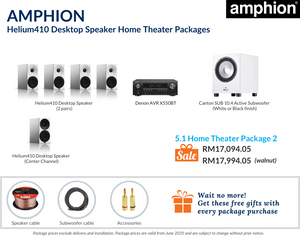 Amphion Helium410 Desktop Speaker 5.1 Home Theater Package
