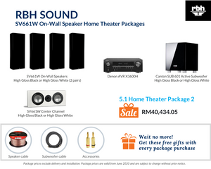 RBH Sound Signatuure SV661W On-Wall Speaker 5.1 Home Theater Package